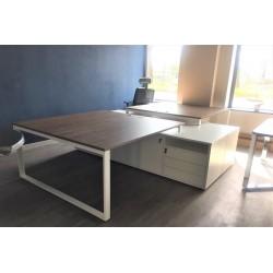 Biurko 2-osobowe 140cm + 2 pomocniki pod biurko