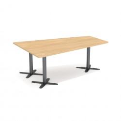 Stół konferencyjny w kształcie trapezu Clover SK-120