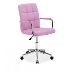 Pikowany fotel obrotowy w ekoskórze Q-022