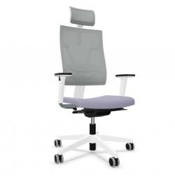 Fotel ergonomiczny, obrotowy 4ME White