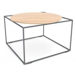 kwadratowy stolik z okrągłym blatem loft lf-4