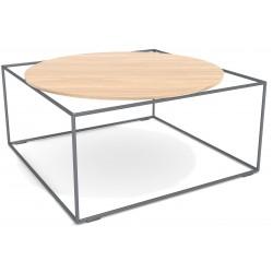 kwadratowy stolik z okrągłym blatem loft lf-6