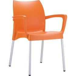 Krzesło z podłokietnikami z tworzywa kontraktowe Dolce