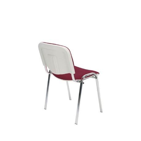 Krzesło do poczekalni i sal konferencyjnych ISO BIANCO chrome