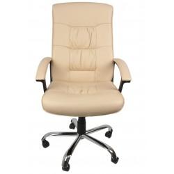 Fotel gabinetowy RELAKS SGC steel (skóra licowa)