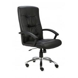 Fotel gabinetowy RELAKS SG steel (skóra licowa)