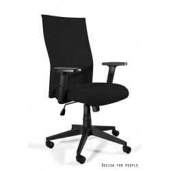 Krzesło biurowe BLACK ON BLACK PLUS tapicerowane membraną PS