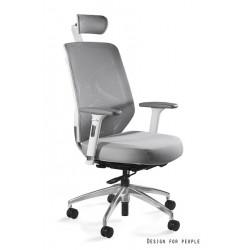 Krzesło biurowe HERO białe siatka/tkanina