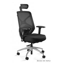 Krzesło biurowe HERO czarne siatka/tkanina
