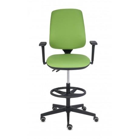 Krzesło z podnóżkiem Starter 3D Ring Base Black