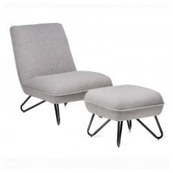 Fotel MALTA z podnóżkiem
