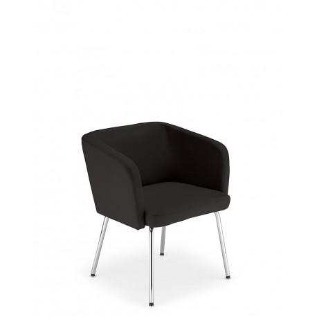Krzesło do poczekalni HELLO 4L chrome