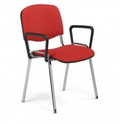 Krzesło do poczekalni ISO LUX ARM chrome