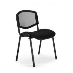 Krzesło do poczekalni i sal konferencyjnych ISO ERGO MESH black