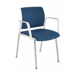 Krzesło konferencyjne Set White Chrom