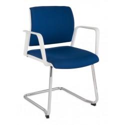 Krzesło konferencyjne Set White V Chrom