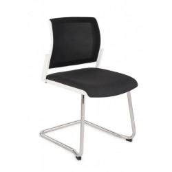 Krzesło konferencyjne Set White Net V Chrome