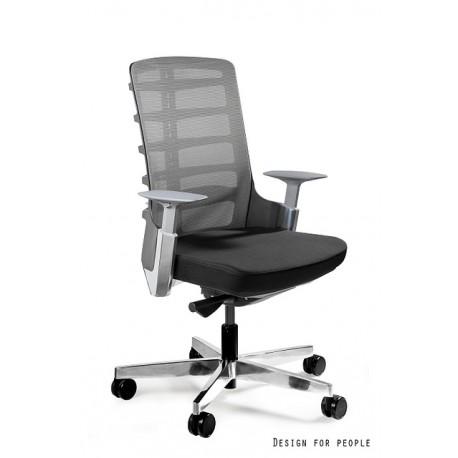 Fotel gabinetowy SPINELLY M czarny/biały